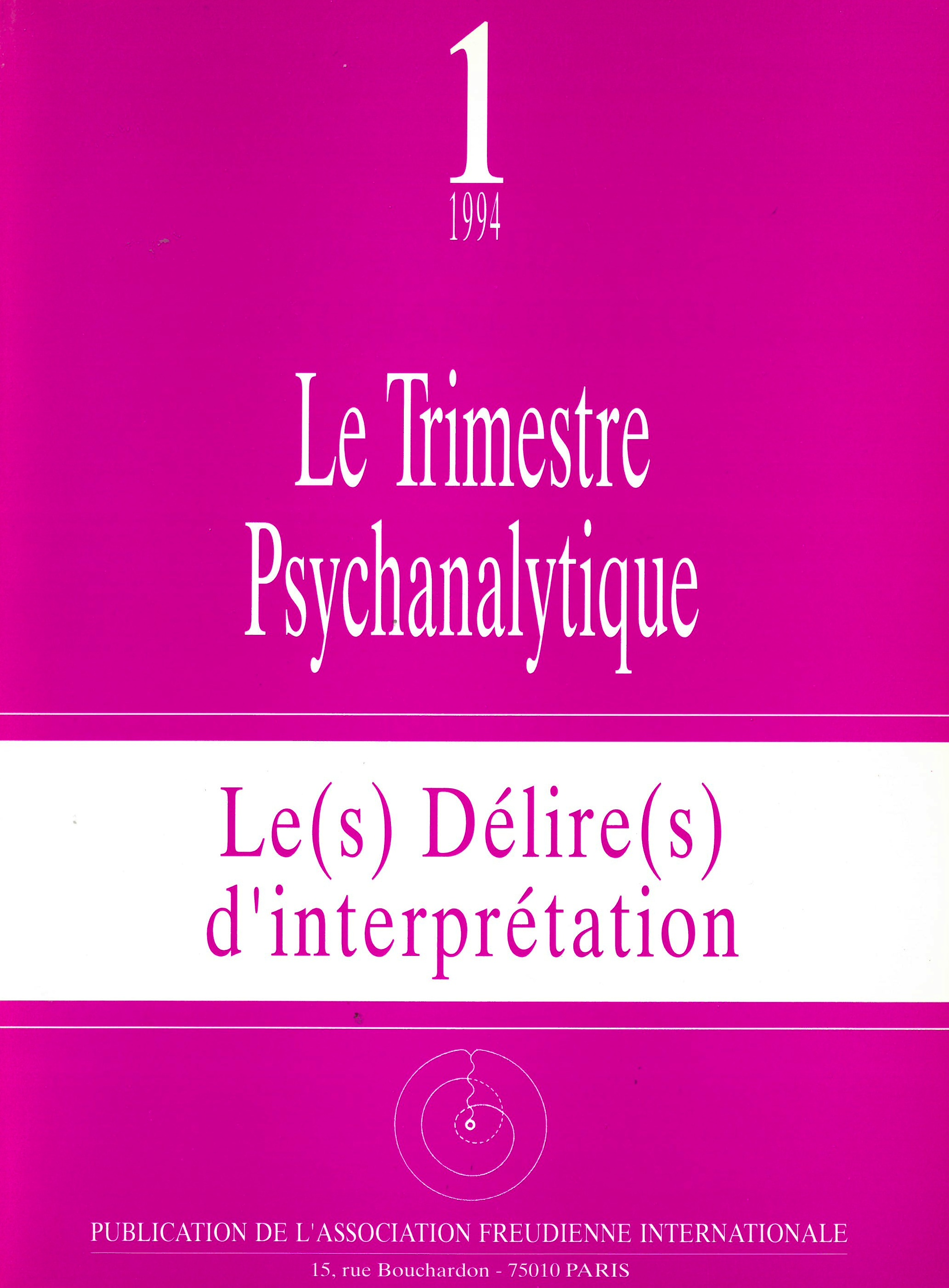 Freud-Lacan - Consultation document